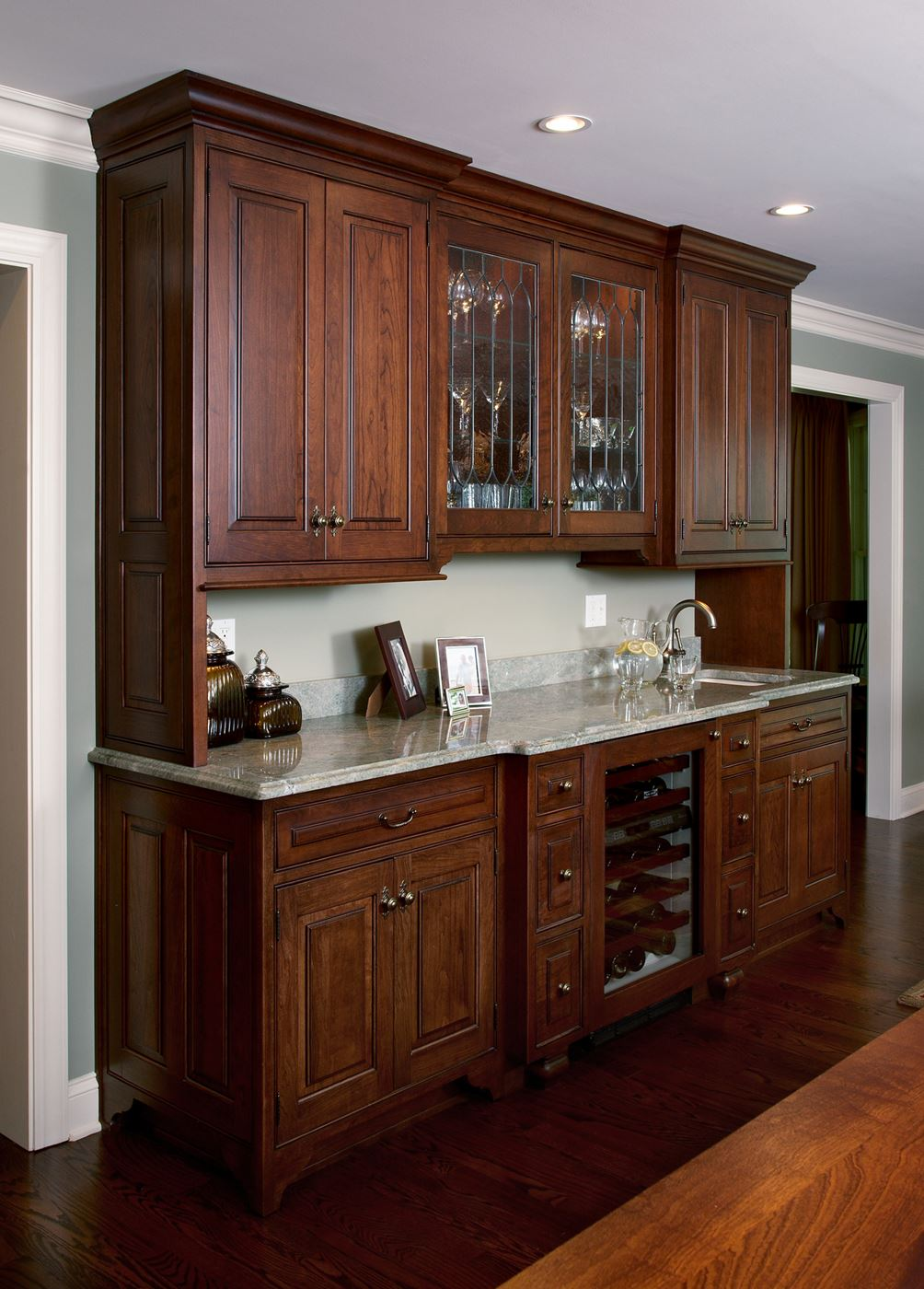 Wet bar gallery custom wood products handcrafted for Custom wood cabinets