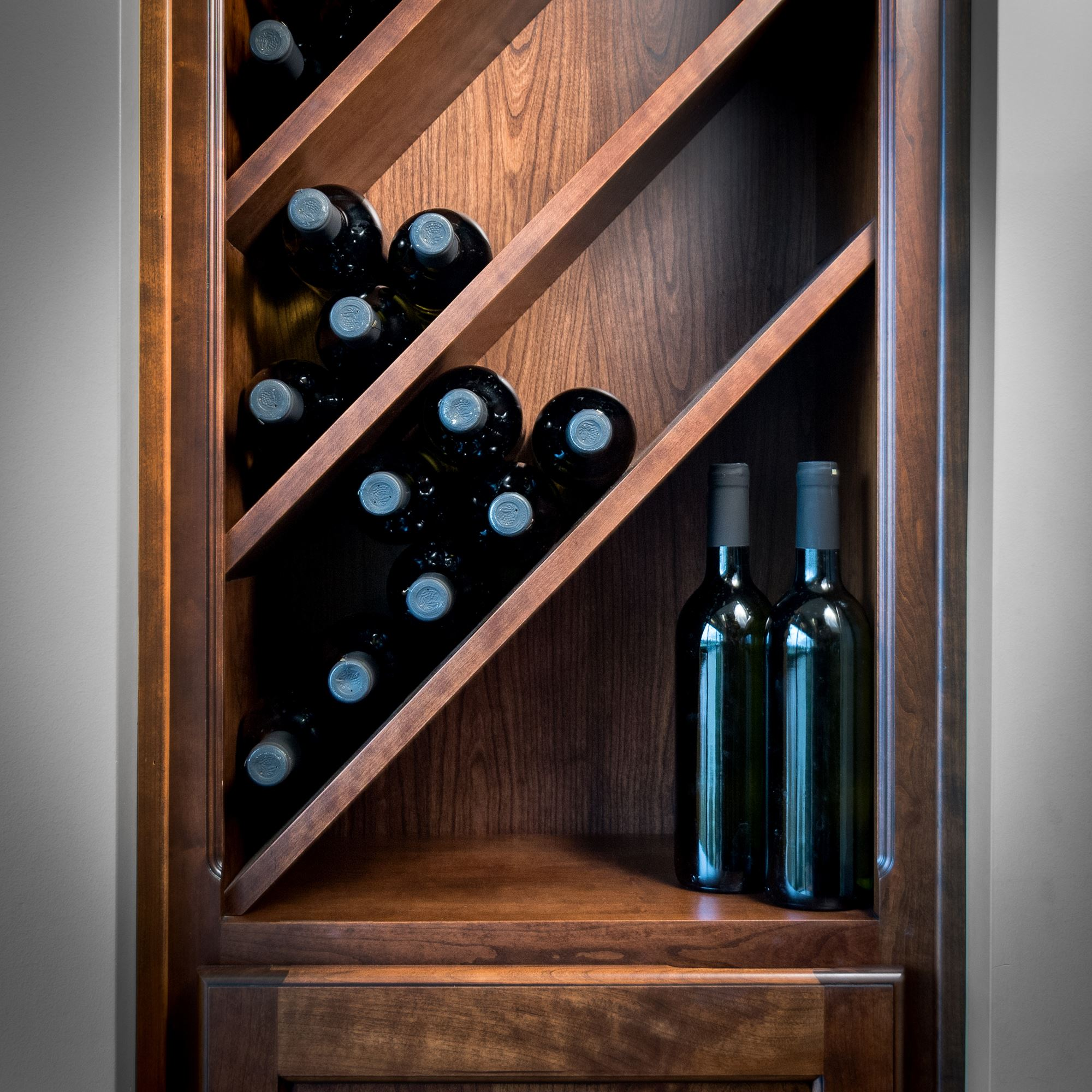 Entertainment and bar solutions storage solutions for Custom wine bar