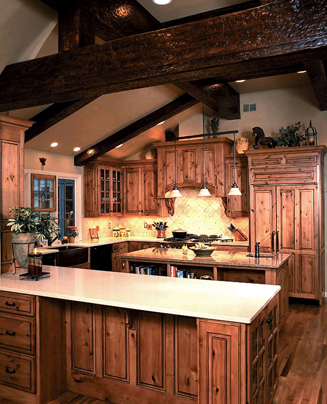 Colorado Knotty Alder Kitchen Cabinets: Custom Wood Products