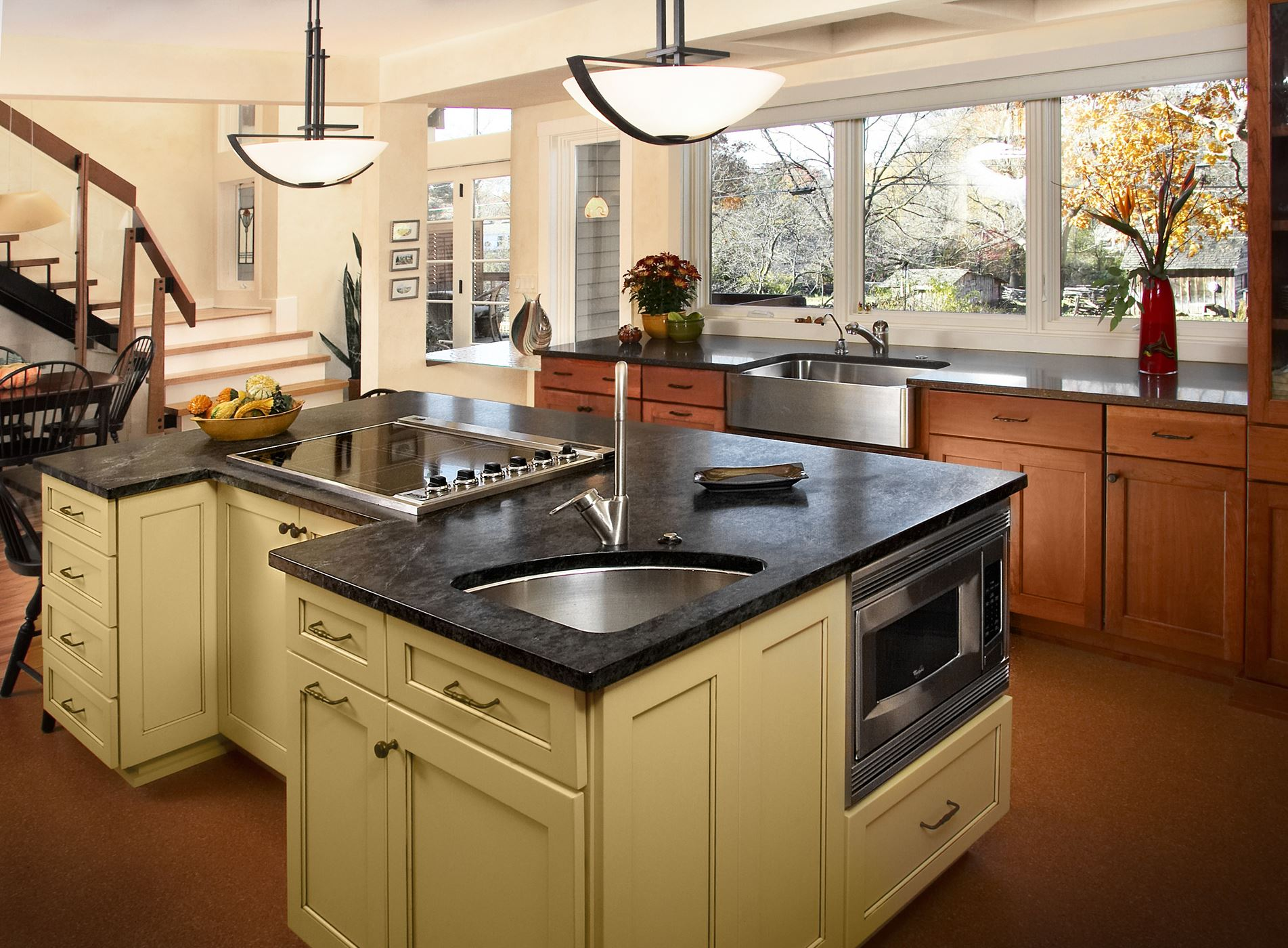 kitchen furniture island contrasting kitchen island gallery custom wood products handcrafted cabinets 2477