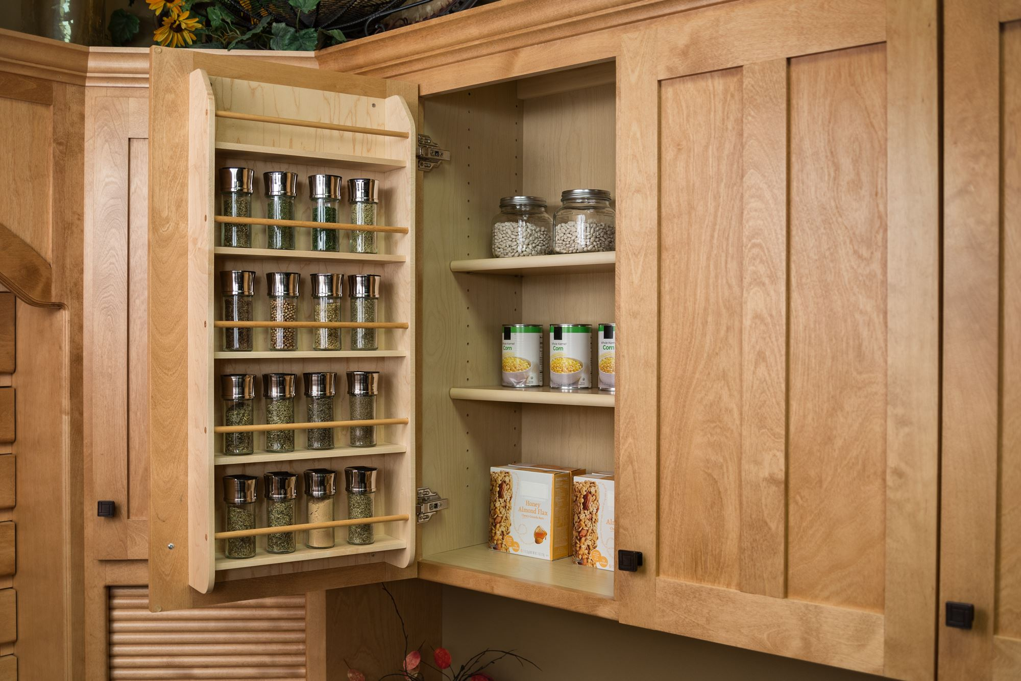 Beautiful Spice Storage Solutions #14 - Door Mounted Spice Rack