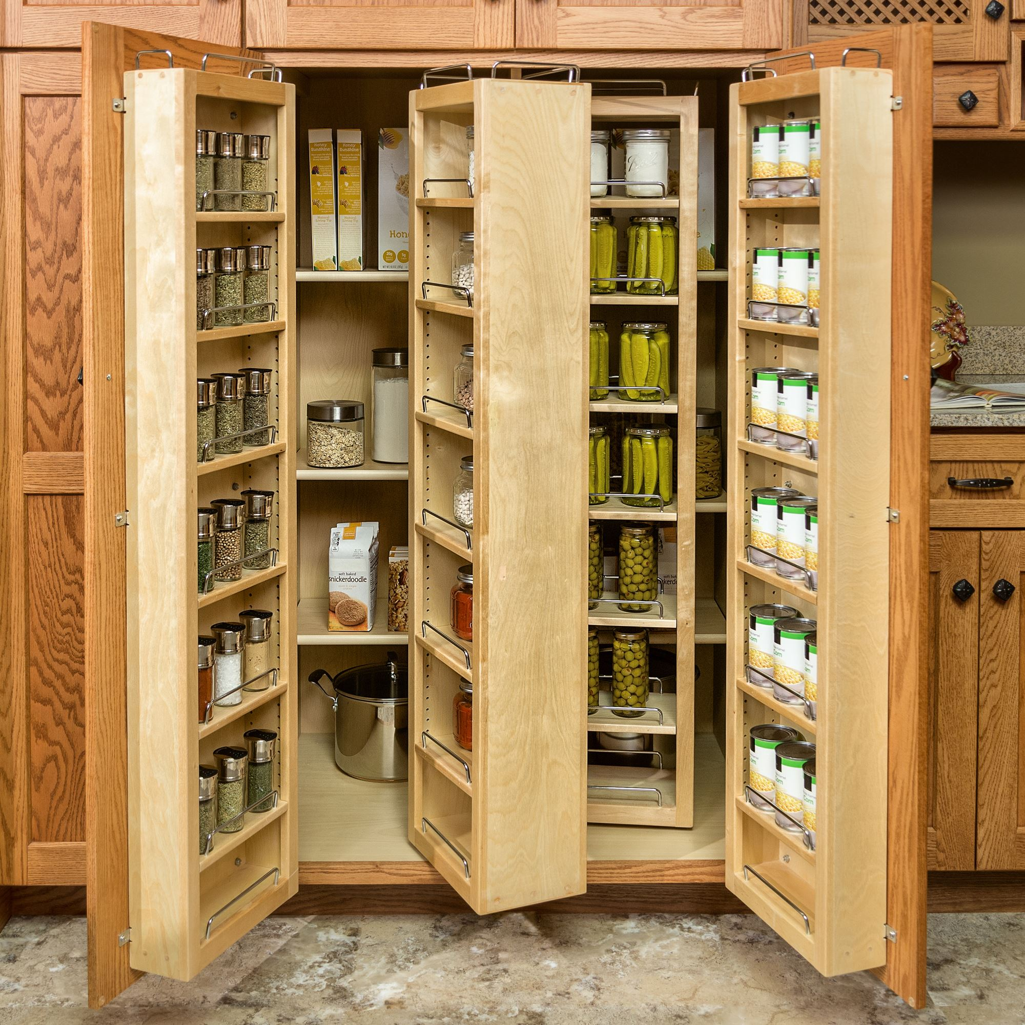 pantry and food storage | storage solutions | custom wood products