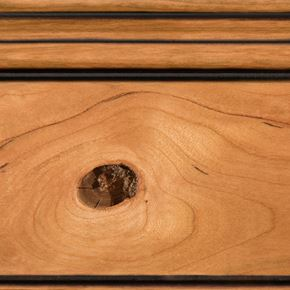 Sienna Stain with Brown Glaze on Rustic Cherry
