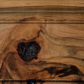 Coffee Stain on Rustic Hickory